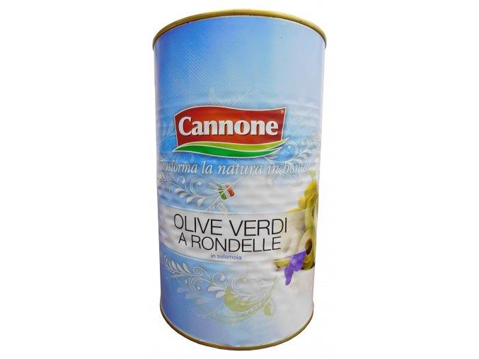 Olivy zelené krájané Cannone 4kg