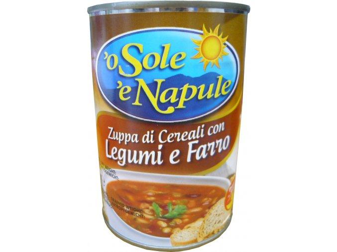 Cereálna polievka so strukovinami a špaldou O Sole e Napule 400g