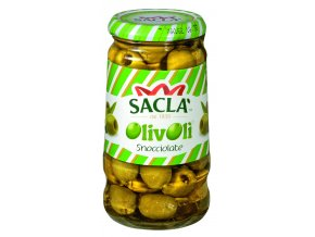 Olivy zelené bez kôstok Sacla (sklo) 290g