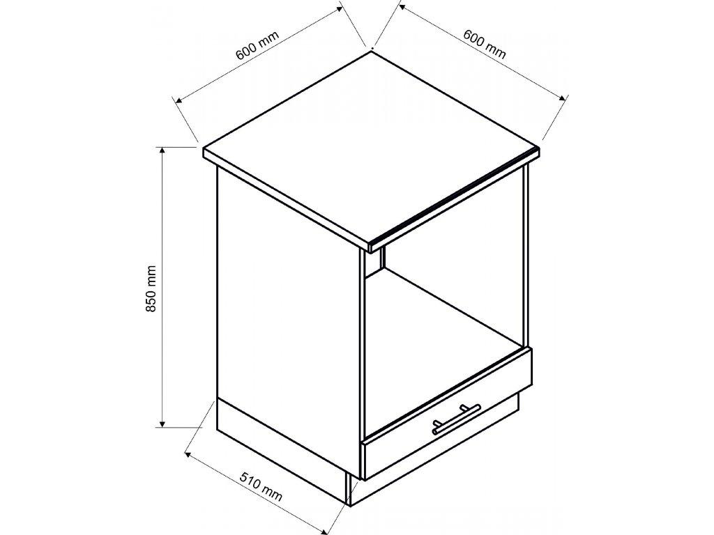 Dolní skřínka 60cm - spotřebičová Polo (Barva jasan)