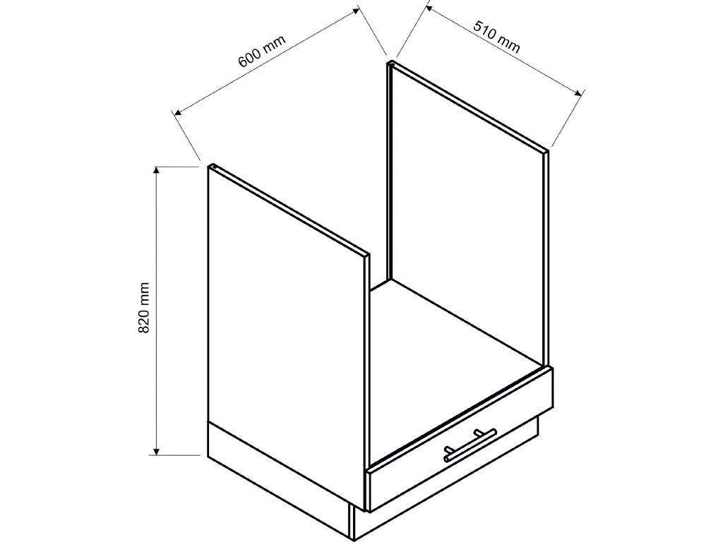 Dolní skříňka 60cm - spotřebičová Kamelia