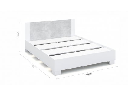 18800 2 postel avrora atelier bila 160x200
