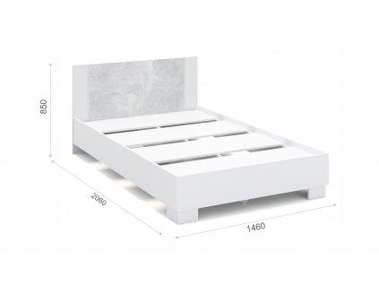 POSTEL AVRORA atelier/bílá 140x200