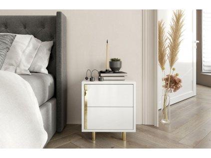 Noční stolek ALODYA, bílý