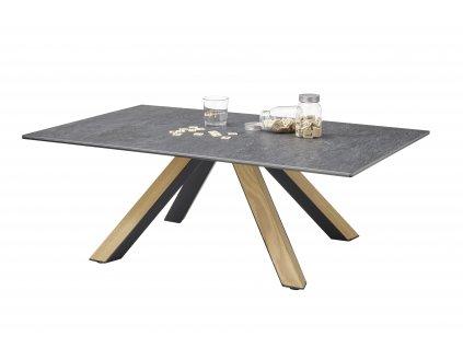 Konferenční stolek MIA; kov / dřevo, 110 cm