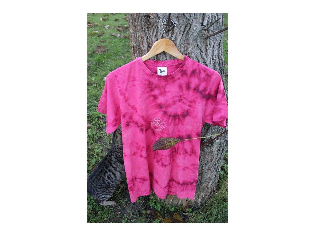 batikované tričko uni M fialová