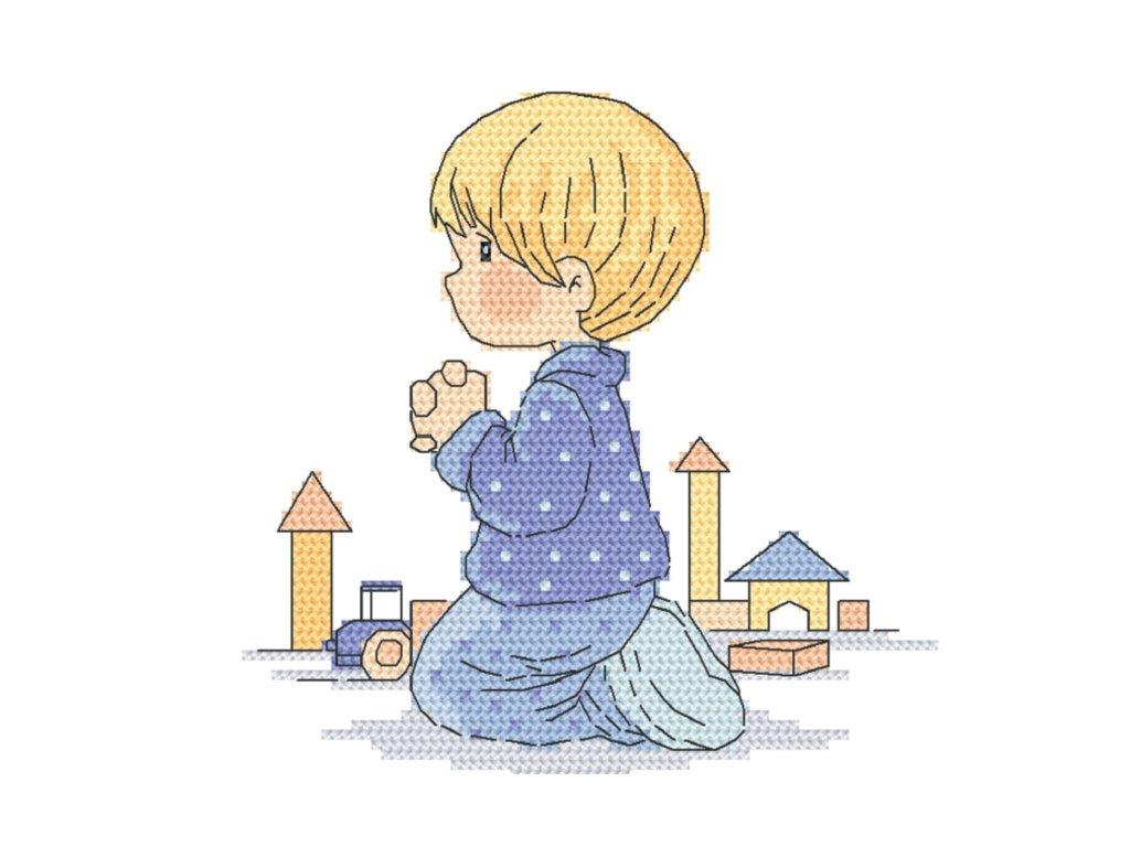 modliaci sa chlapček