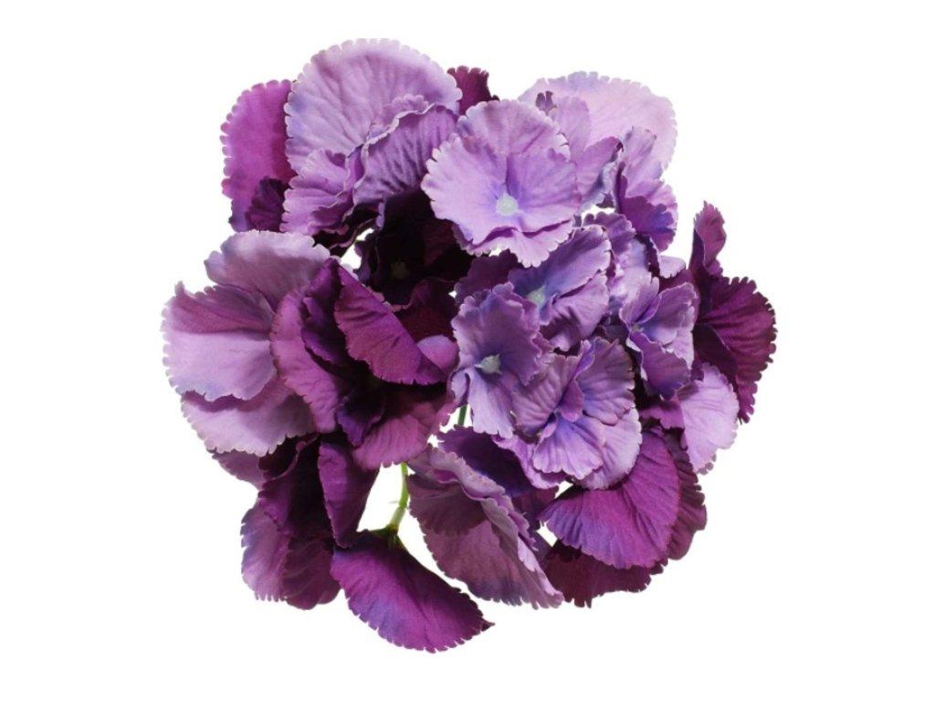 umelý kvet-hlavička hydrangea 16cm