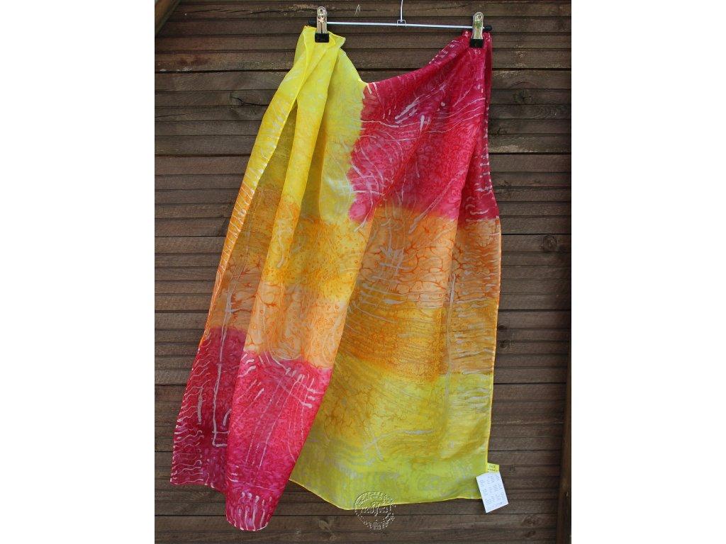 silk scarf 90x90cm,mix techník