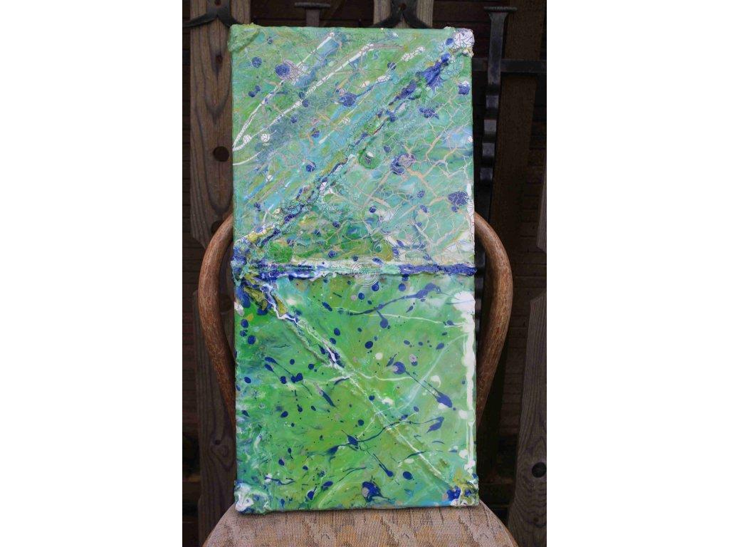 závesná dekorácia 60x30x2cm farebná, živica