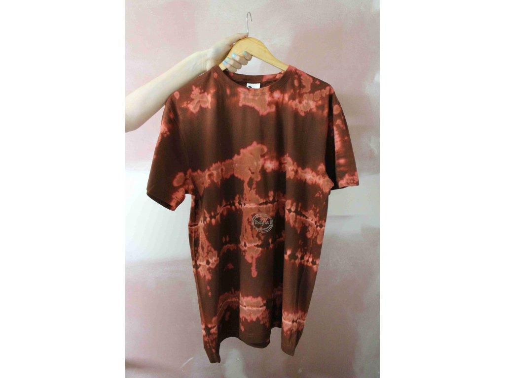 t-shirt uni XL brown batik cotton