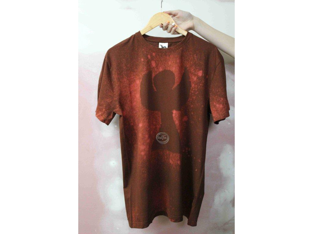 t-shirt uni XL batik cotton brown