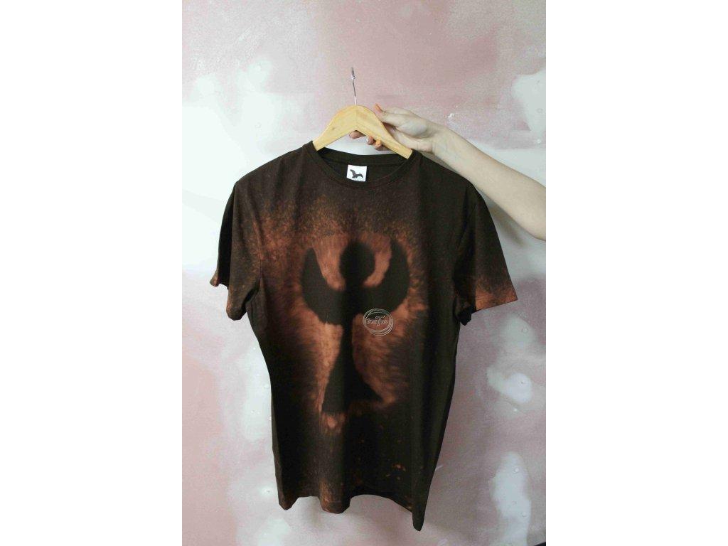 t-shirt uni L batik cotton brown