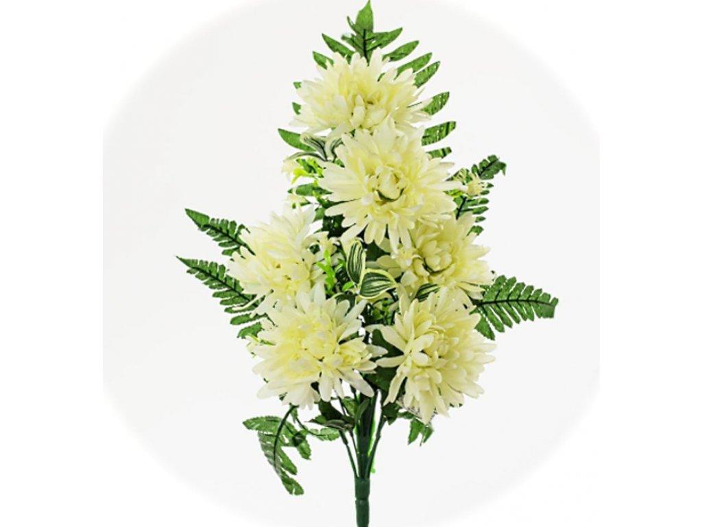 1500207 kytiva chryzantena biela 50cm