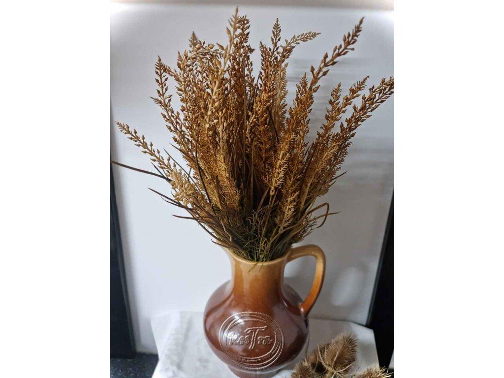umelohmotná dekorácia-tráva hnedá 50cm