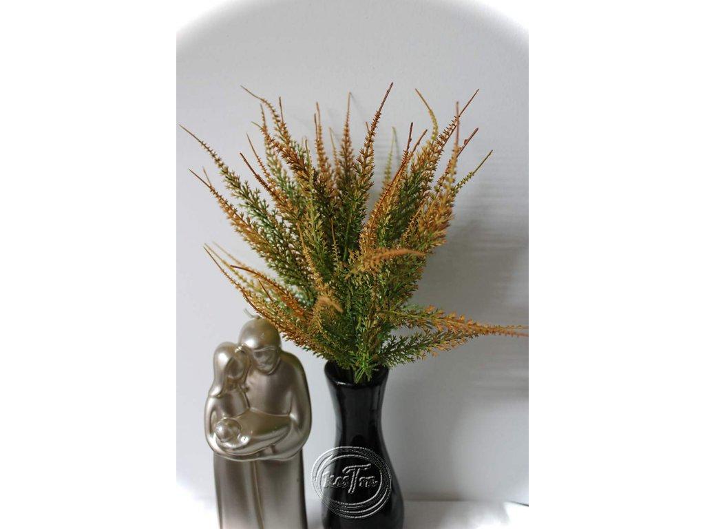 umelohmotná dekorácia-vres 35cm oranžový