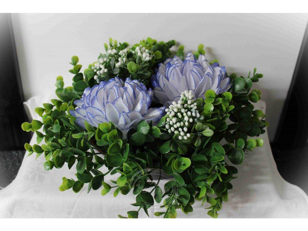 hrobová dekorácia - voskové kvety