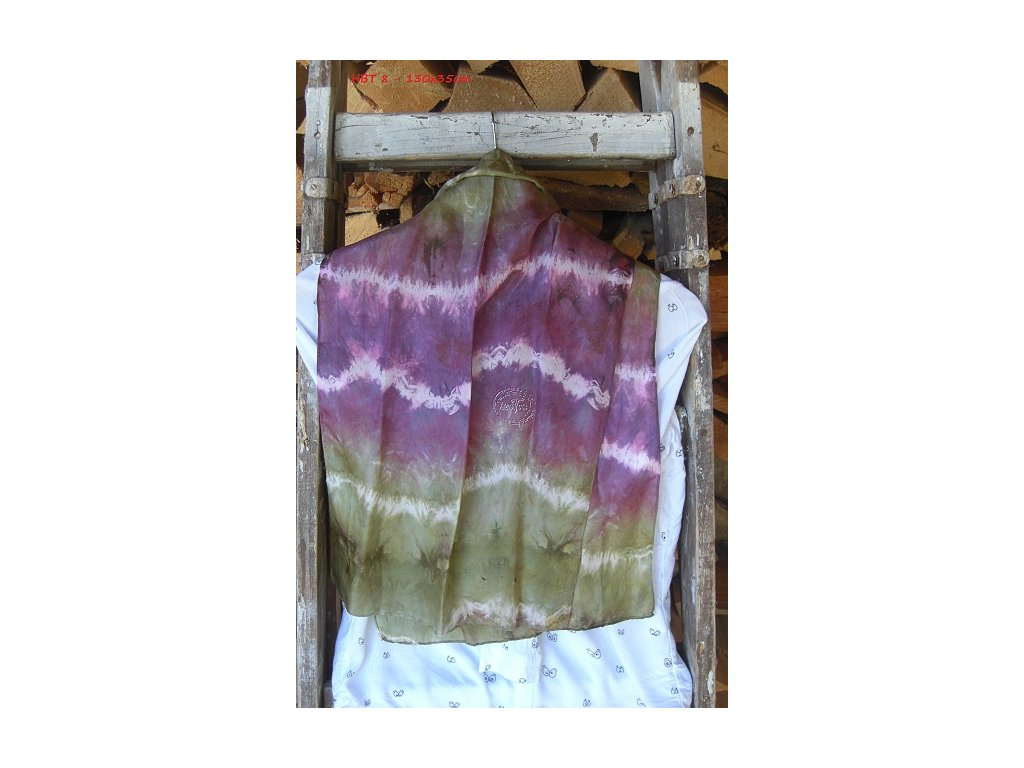 silk scarf 130x35 batik