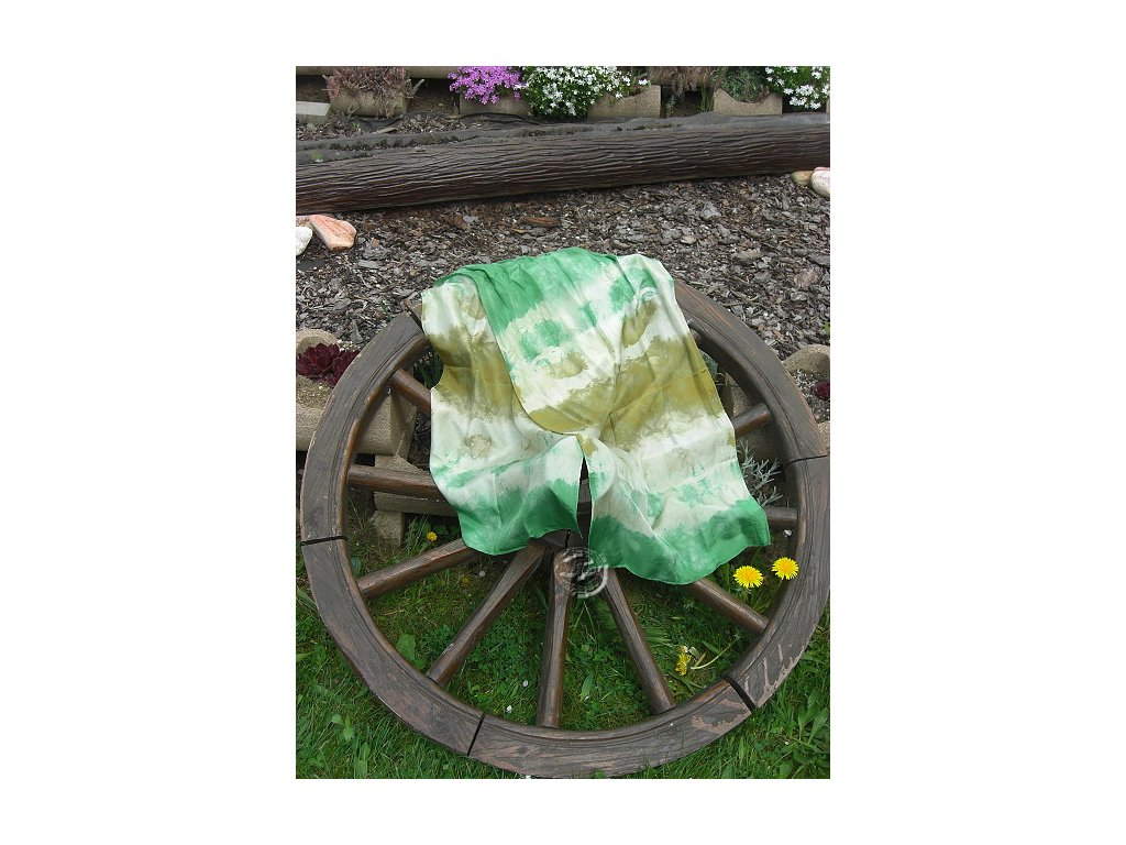 silk scarf 150x40cm batik