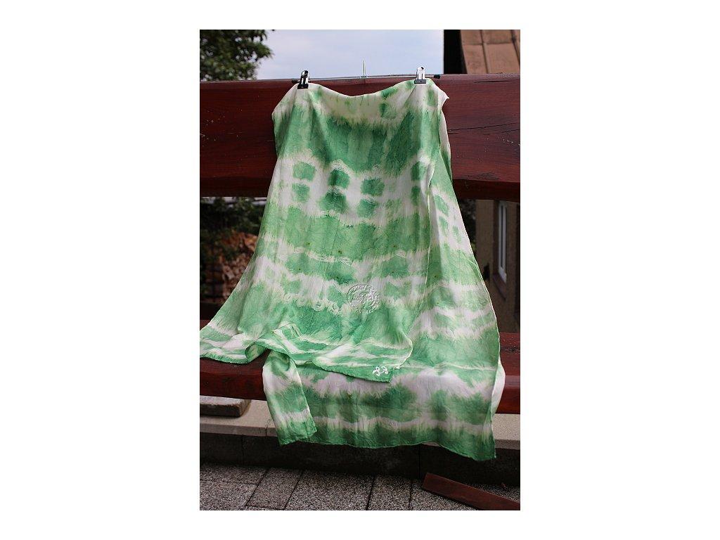 silk scarf batik 150x40cm
