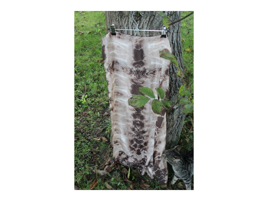 silk scarf brown HBT 8 batik