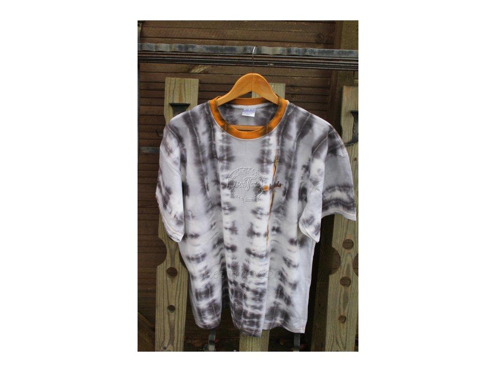 recyvec_batikované bavlnené tričko XXL