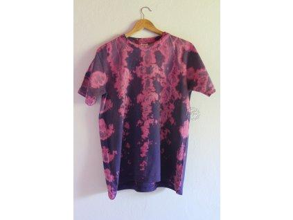 t-shirt batik L uni purple
