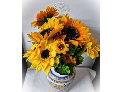 Kytička slnečnice - umelohmotná dekorácie