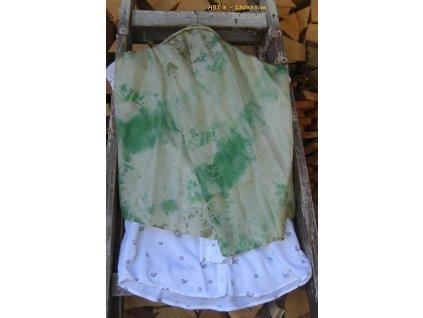 silk scarf hbt8-130x35 green batik