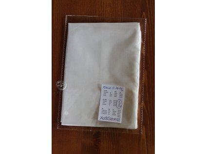 hodvábna šatka Ponge 6-74x74cm biela,polotovar