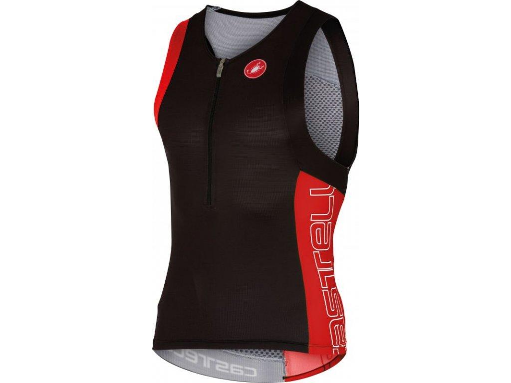 Triatlon Top Castelli Free Tri (Farba Castelli-Free-Triatlon-Čierno-fluo žltý, Veľkosť XXL)