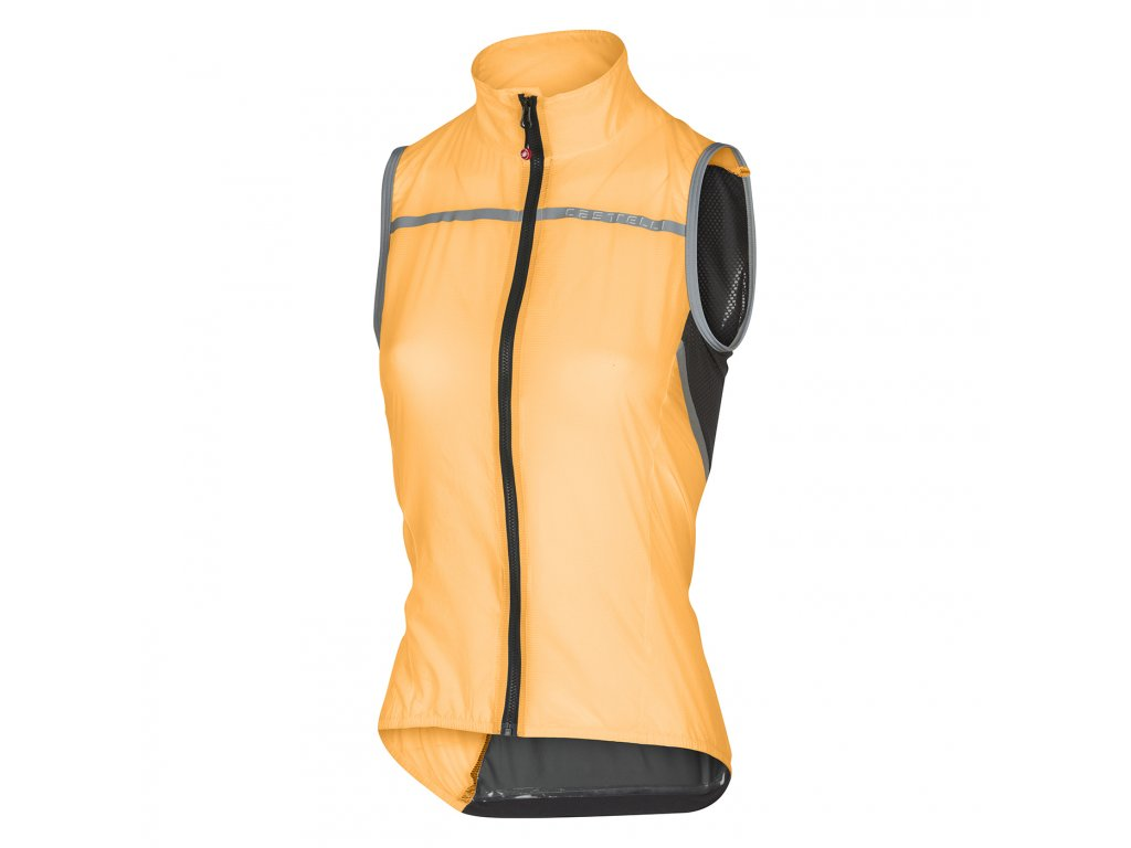 Dámska vesta Castelli Superleggera W (Farba Castelli-Superleggera-W-damska-vesta-Oranžová, Veľkosť XS)