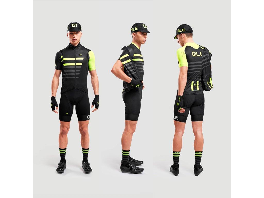 L09054017 Crossover men capitano windfront vest black yellow fluo side 02