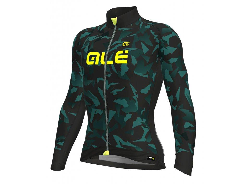 ALÉ Graphics PRR Glass (Farba ALÉ-MAGLIA-M/L-GLASS-dlhy-black-turquoise, Veľkosť M)