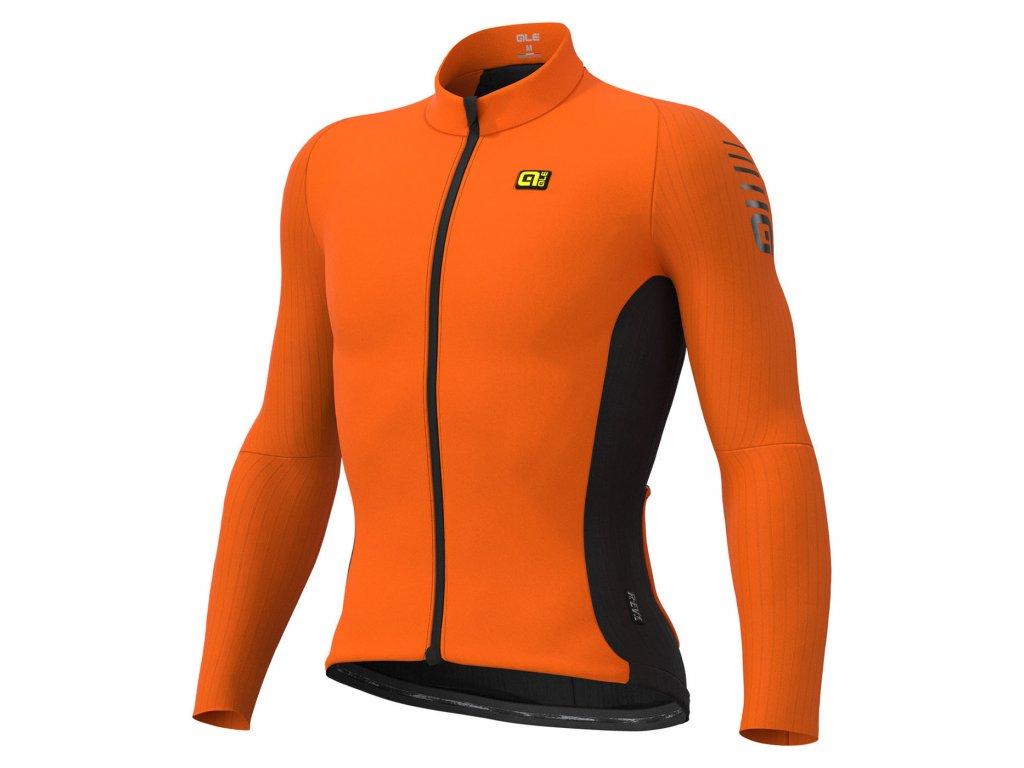 Dres s dlhým rukávom ALÉ R-EV1 CLIMA PROTECTION 2.0 WARM RACE (Farba LÉ-R-EV1-WARM-RACE-dlhy-rukavblack, Veľkosť M)