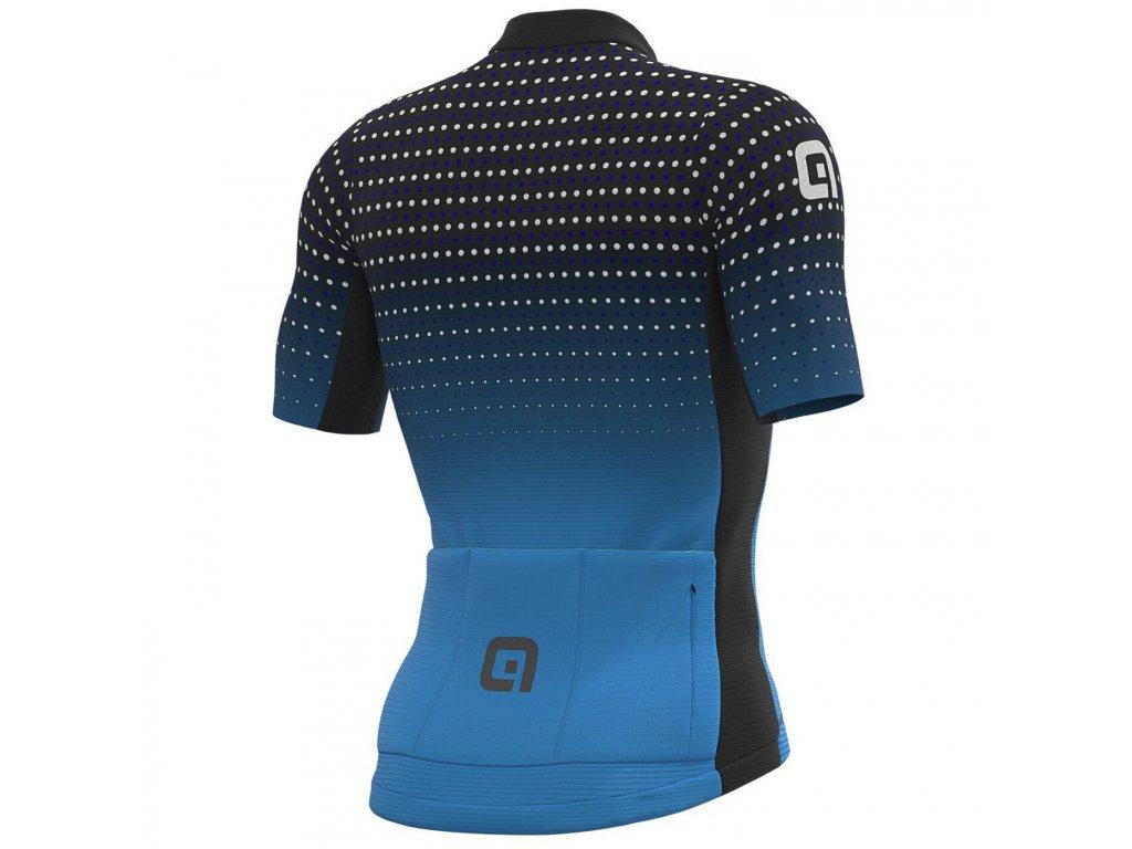 Letní cyklistický dres ALÉ PRS BULLET (Farba ALÉ-BULLET-pansky-letny-dres-black-cyan, Veľkosť XXS)