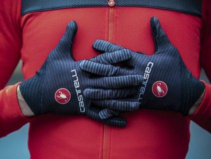 Ľahké dlhoprsté rukavice Castelli CW.6.1 Cross (Farba Castelli-CW.6.1-Cross-dlhoprste-Oranžová, Veľkosť XXL)