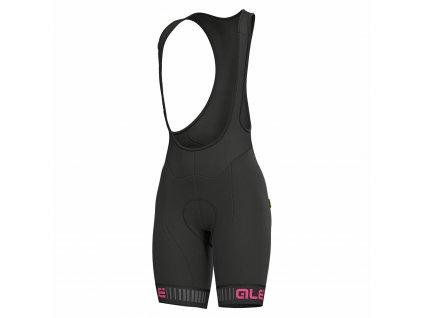 Dámske cyklo nohavice ALÉ SOLID TRAGUARDO (Farba ALÉ-SOLID-TRAGUARDO-black-fluo pink, Veľkosť XXL)