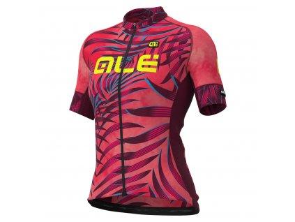 Dámsky letný dres ALÉ GRAPHICS PRR SUNSET (Farba ALÉ-GRAPHICS-PRR-SUNSET-damsky-black-fluo pink, Veľkosť XXL)