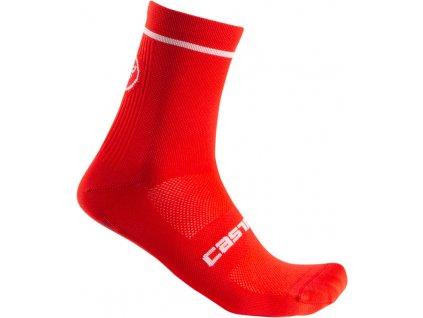 Ponožky Castelli ENTRATA 9 (Farba Castelli-ENTRATA-9-červená, Veľkosť XXL)