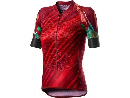 Dámsky cyklo dres Castelli CLIMBER'S W (Farba Castelli-CLIMBER'S-W-červená, Veľkosť XL)