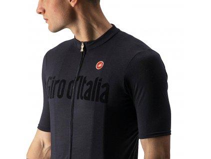 Luxusný dres Castelli Giro HERITAGE MAGLIA (Farba Castelli-Giro-HERITAGE-MAGLIA-čierna, Veľkosť 3XL)