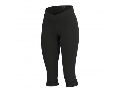Dámske cyklo nohavice ALÉ CLASSICO 3/4 (Farba black-charcoal grey, Veľkosť XXL)