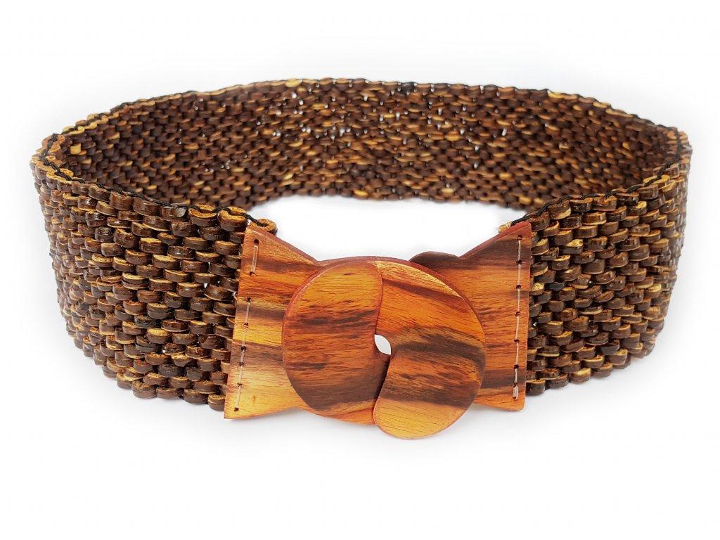 Kokosový pásek s ebenovou přezkou hnědý
