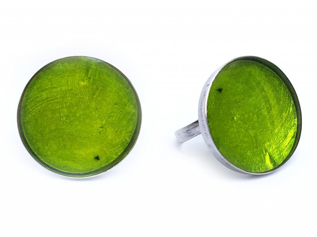 Prsten kruh zelený