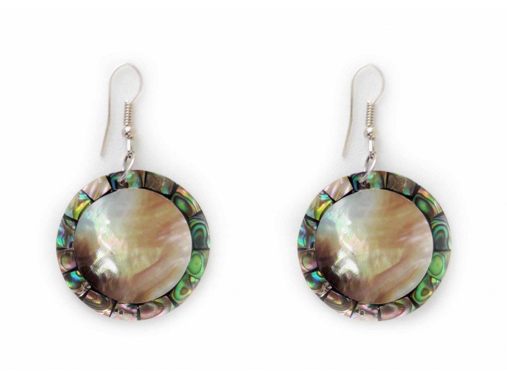 Náušnice kruh s perleťovým lemováním