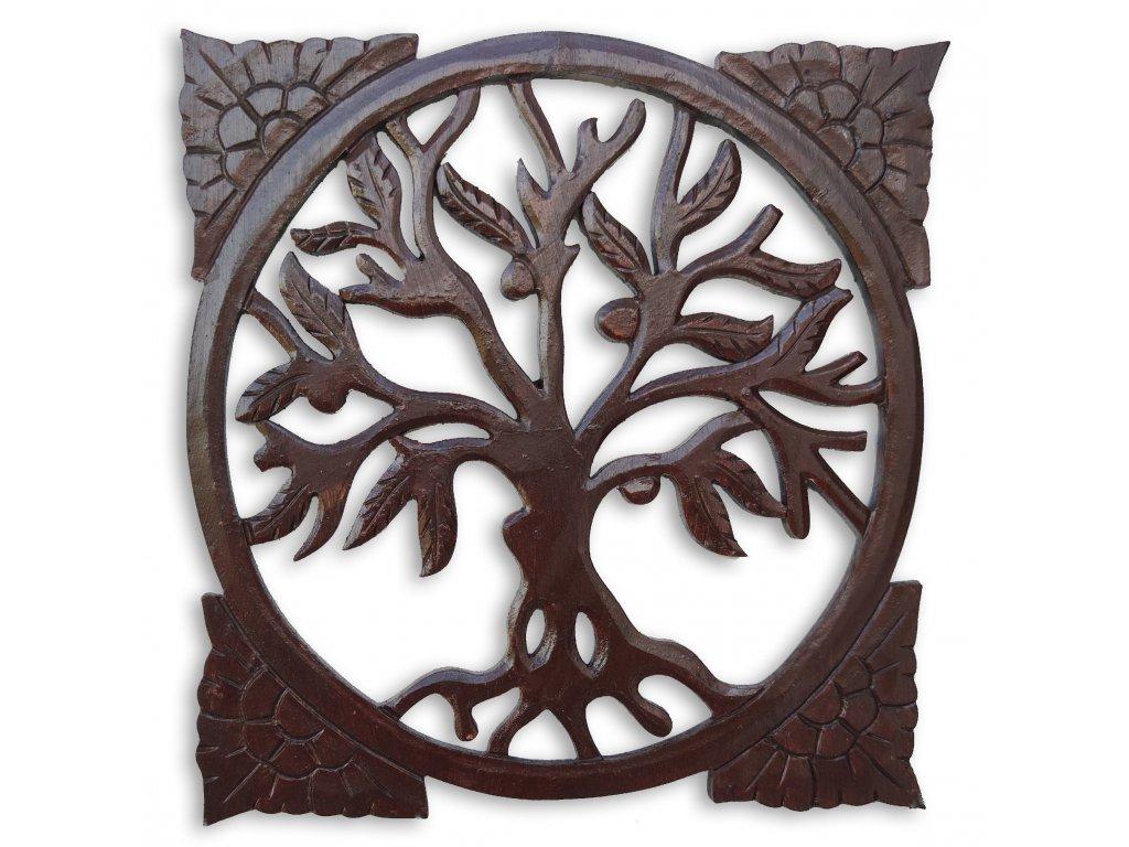 dřevěné dekorace na zeď strom života