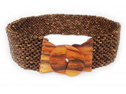 Kokosový pásek s ebenovou přeskou hnědý