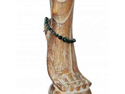 Náramek na nohu ze zeleného tygřího oka