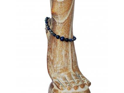 Náramek na nohu z modrého tygřího oka